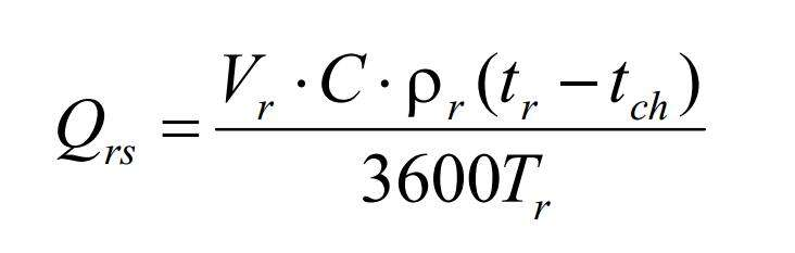 空气能热泵机组选型计算公式